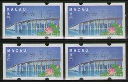 MACAO: Distributeurs N°2 **, Les 4 Valeurs       - Cote 6€ - - 1999-... Región Administrativa Especial De China