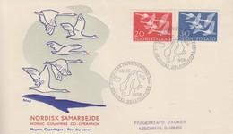 Enveloppe  FDC  1er  Jour   FINLANDE   Journée  Des   Pays  Du  Nord   1956 - Finlande