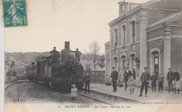 SAINT-SAENS (Seine-Maritime): La Gare, Vue Sur La Voie - Locomotive à Vapeur - Saint Saens