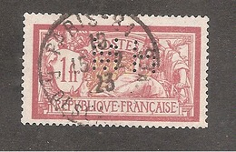 Perforé/perfin/lochung France Merson No 121 MH Morgan-Harjes Et Cie - Gezähnt (Perforiert/Gezähnt)
