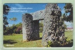 """Tonga - TTIL - 2000? Fourth Issue - Royal History - $5 Ha' Amonga-a-maui  - TON-10 - """"36CTDA"""" - VFU - Tonga"""