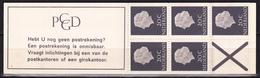 1966 PZB Boekje 5 X 20 Ct Koningin Juliana Normaal Papier PB 6 D Postfris - Carnets Et Roulettes