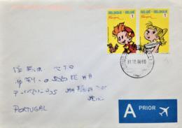 "Belgium, Circulated Cover To Portugal, ""Comics"", 2008 - Cartas"