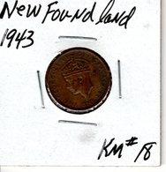 1943 New Foundland 1 Cent KM#18 - Canada