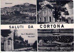 Saluti Da Cortona (Ap). Multivisione. VG. - Ascoli Piceno