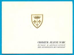 CPSM Carte Double CROISEUR JEANNE D'ARC Ecole - Croisière 1963 1964 ** Marine Nationale Bateau - Guerre
