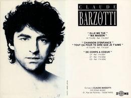 Claude Barzotti Photo  Marc Lafon - Unclassified