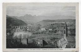 (RECTO / VERSO) SISTERON EN 1934 - LE VIEUX COUVENT - CONFLUENT DU BUECH ET DE LA DURANCE - BEAU CACHET - CPA - Sisteron