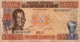 REPUBLIQUE DE GUINEE 1000 FRANCS GUINEENS 1985 P-32 - Guinea