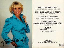 Annie Cordy - Handtekening