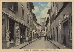 BORGO SAN LORENZO-FIRENZE-CORSO MATTEOTTI-BELLISSIMA CARTOLINA VERA FOTOGRAFIA-VIAGGIATA IL 30-89-1955 - Firenze
