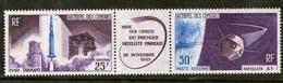 Archipel Des Comores N° 16A Triptyque Mise En Orbite 1er Satellite Français 1965 - Unused Stamps