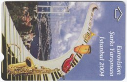 TURKEY C-259 Magnetic Telekom - Event, Eurovisions Song Contest - Used - Türkei
