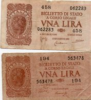 ITALIA  1 LIRA 1944 P-29a - [ 1] …-1946: Königreich