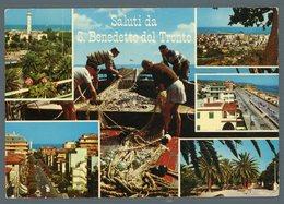 °°° Cartolina - Saluti Da San Benedetto Del Tronto Vedute Viaggiata °°° - Ascoli Piceno
