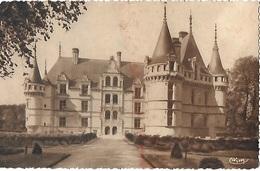 ! - France - Azay-le-Rideau - Le Château National - Façade Nord - Entrée Principale - XVIè Siècle - 2 Scans - Azay-le-Rideau
