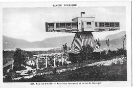 ! - France - Aix-les-Bains - Solarium Tournant Et Le Lac Du Bourget - 2 Scans - Aix Les Bains