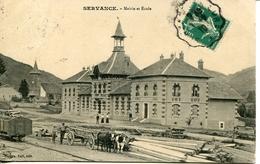 GD 70 SERVANCE Mairie Et école Attelage De Bœufs - Autres Communes