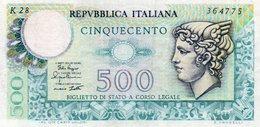 ITALIA  500 LIRE 1979 P-94a.2  XF - [ 2] 1946-… : Repubblica