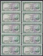 MOSAMBIK - MOZAMBIQUE 10 Stück á 100 Escudos (1976) Pick 117a UNC (1)   (89046 - Banknoten
