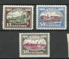 LETTLAND Latvia 1928 Michel 133 & 135 - 136 * - Lettonie