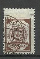 LETTLAND Latvia 1919 Michel 12 B O - Lettonie