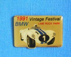 1 PIN'S //  ** VINTAGE FESTIVAL / BMW / LIME ROCK PARK / 1991 ** - BMW
