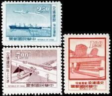 1972 Communication Stamps Telecommunication Train Plane Ship Satellite Bridge Space - Busses