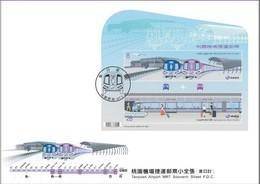 FDC(A) Taiwan 2018 Taoyuan Airport MRT Metro Stamps S/s Rapid Transit Train Plane - 1945-... Republic Of China
