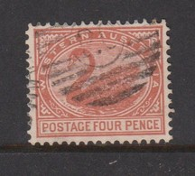 Australia-Western Australia SG 142a 1905-12 Four Pence Pale Chestnut Perf 12,used - 1854-1912 Western Australia