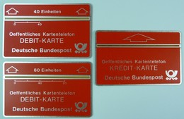 GERMANY - L&G - Landis & Gyr - !st Credit & Debit Demo Set - Bundespost - Mint - RRRRR - T-Series : Tests