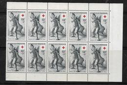 France  Croix Rouge  De 1955 N°1049 (x10) Provenant De Carnet Neuf ** - Booklets