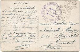 ALLEMAGNE MANNHEIM CARTE + TRESOR ET POSTES 192 14.5.1924 + CACHET VIOLET DIRECTION DES CHEMINS DE FER DU PALATINAT - Storia Postale