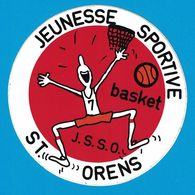 AUTOCOLLANT JEUNESSE SPORTIVE BASQUET J.S.S.O. ST. ORENS - Aufkleber