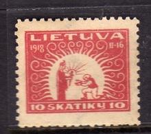LITHUANIA LITUANIA LIETUVA 1920 RECEIVING BENEDICTION BENEDIZIONE 10sk MLH - Litauen