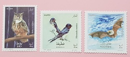 ALGERIE ALGERIA 2020 - HIRONDELLE HIRONDELLES SWALLOW SWALLOWS OWLS OWL HIBOUX BAT BATS CHAUVE SOURIS BIRDS OISEAUX MNH - Algerije (1962-...)
