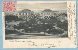 A133  CPA   Bilhete Postal   PORTO ALEGRE  (Brésil)  Praça Pedro II   - 1904   +++++ - Porto Alegre