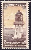 NEW ZEALAND 1947 4d Brown & Yellow-Orange Life Insurance SGL47 Used - New Zealand
