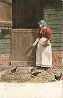 """Lsdy. Feeding The Chickens"" Tuck RuralLife Series PC # 1422 - Tuck, Raphael"