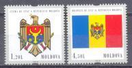 2010. 20y Of New Flag & COA In Moldova, 2v, Mint/** - Moldavia