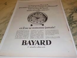 ANCIENNE PUBLICITE REVEIL ELECTRIQUE  BAYARD 1966 - Affiches