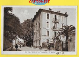 CPA NICE 06  ♥️♥️☺♦♦  HOTEL CAVALLERO 3 AVENUE DES FLEURS  ֎  1937  1938 - Cafés, Hôtels, Restaurants