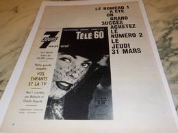 ANCIENNE PUBLICITE TELE 7 JOURS 1960 - Autres