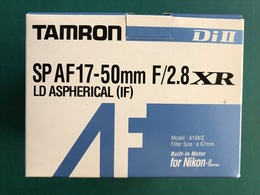 TAMRON Di II SP AF17-50mm F/2.8 XR LD ASPHERICAL (IF) LENS, 90% NEW, VERY FEW USED - Appareils Photo