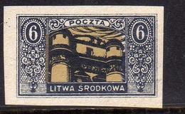 LITHUANIA LITUANIA LIETUVA1921 MIDDLE LITWA SRODKOWA CENTRAL POCZOBUT ASTRONOMICAL OBSERVATORY 6m MNH - Lithuania
