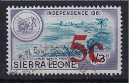 Sierra Leone: 1964/66   Decimal Currency - Surcharge    SG341     5c On 1/3d      Used - Sierra Leone (1961-...)