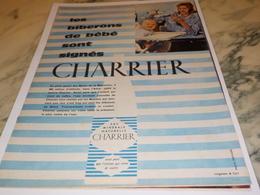 ANCIENNE PUBLICITE LES BIBERONS DE  BEBE  CHARRIER 1960 - Affiches