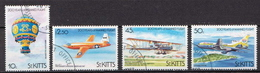 St. Kitts Used Set And SS - Airplanes