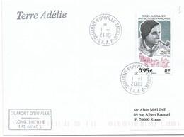 10 - TAAF 894 De 2019, Yves VALLETTE, Traineau à Chiens Sur Enveloppe 1.1.2019, 1ère Date En TERRE ADELIE. - Lettres & Documents