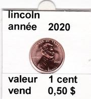 Pieces 1 Cent 2020 Lincoln - EDICIONES FEDERALES